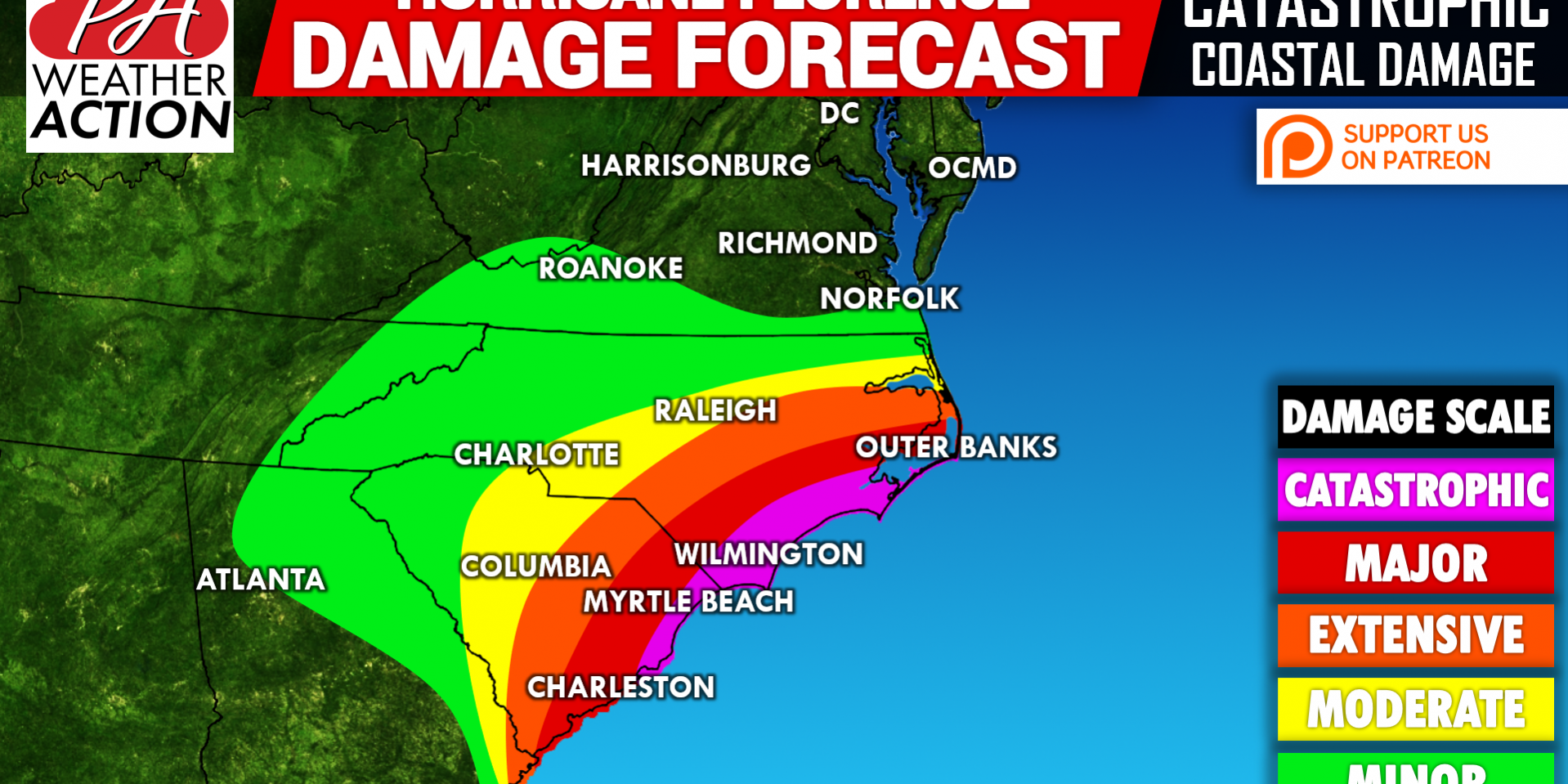 Major Hurricane Florence to Cause Catastrophic Damage to the
