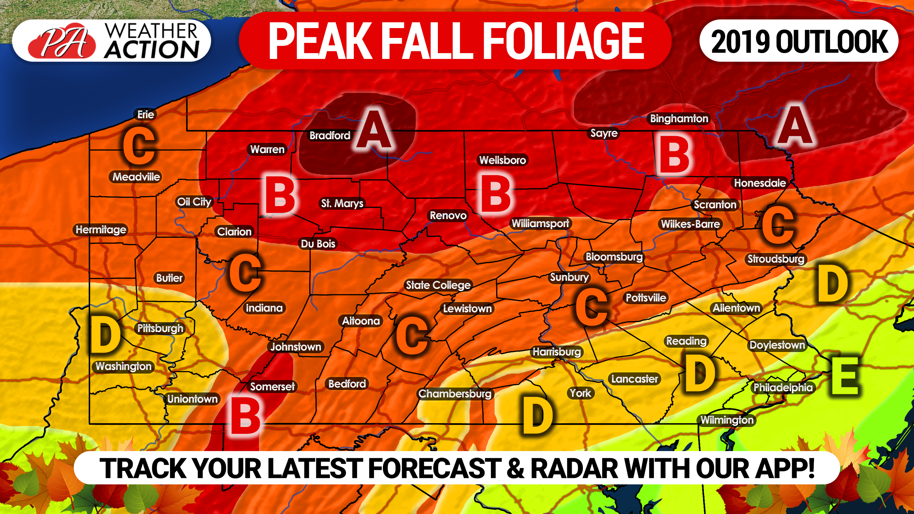 Picture of: 2019 Fall Foliage Outlook Expected Peak Times In Pennsylvania Pa Weather Action