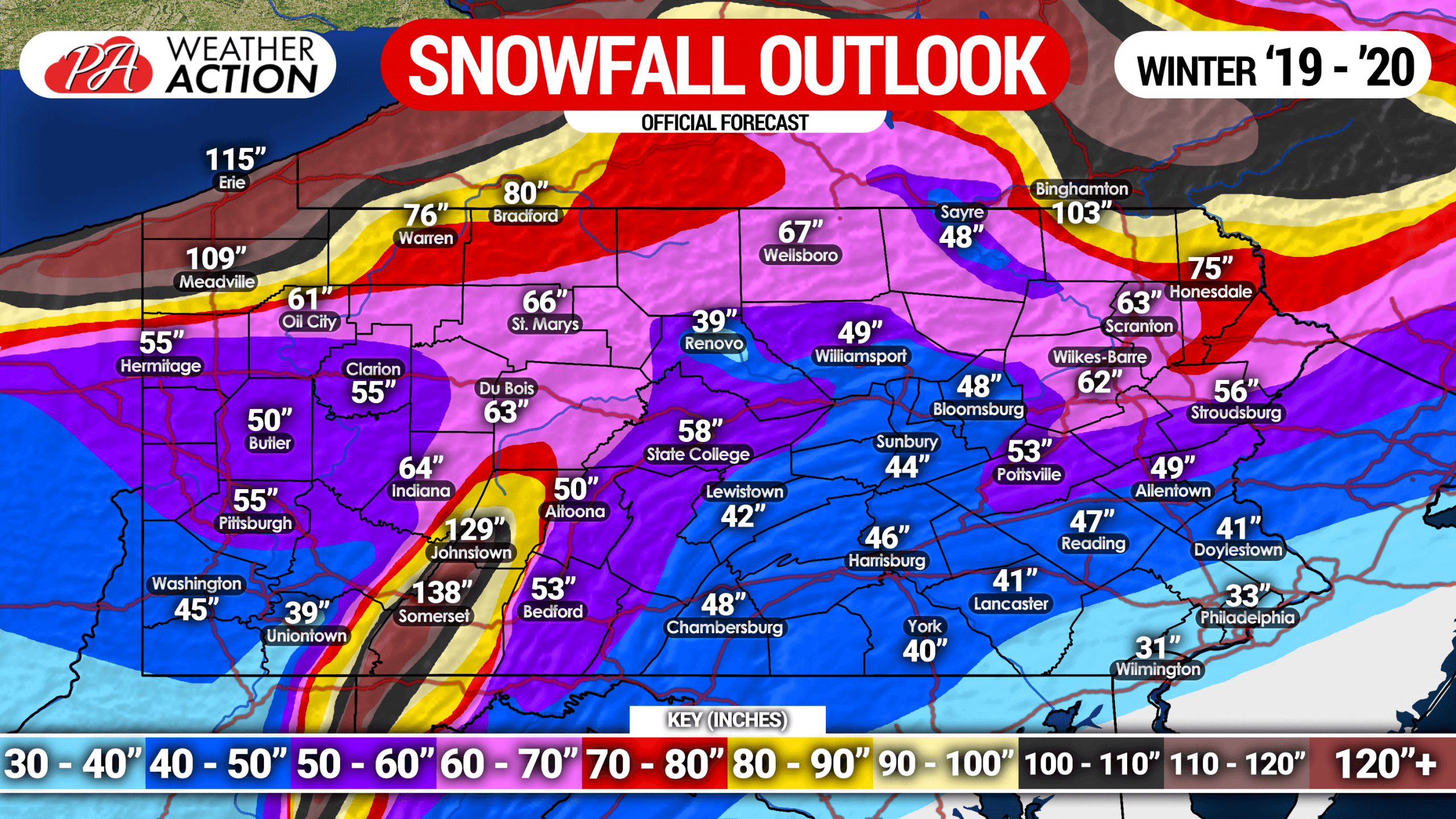 Official 2019 – 2020 Pennsylvania Winter Forecast – PA Weather Action